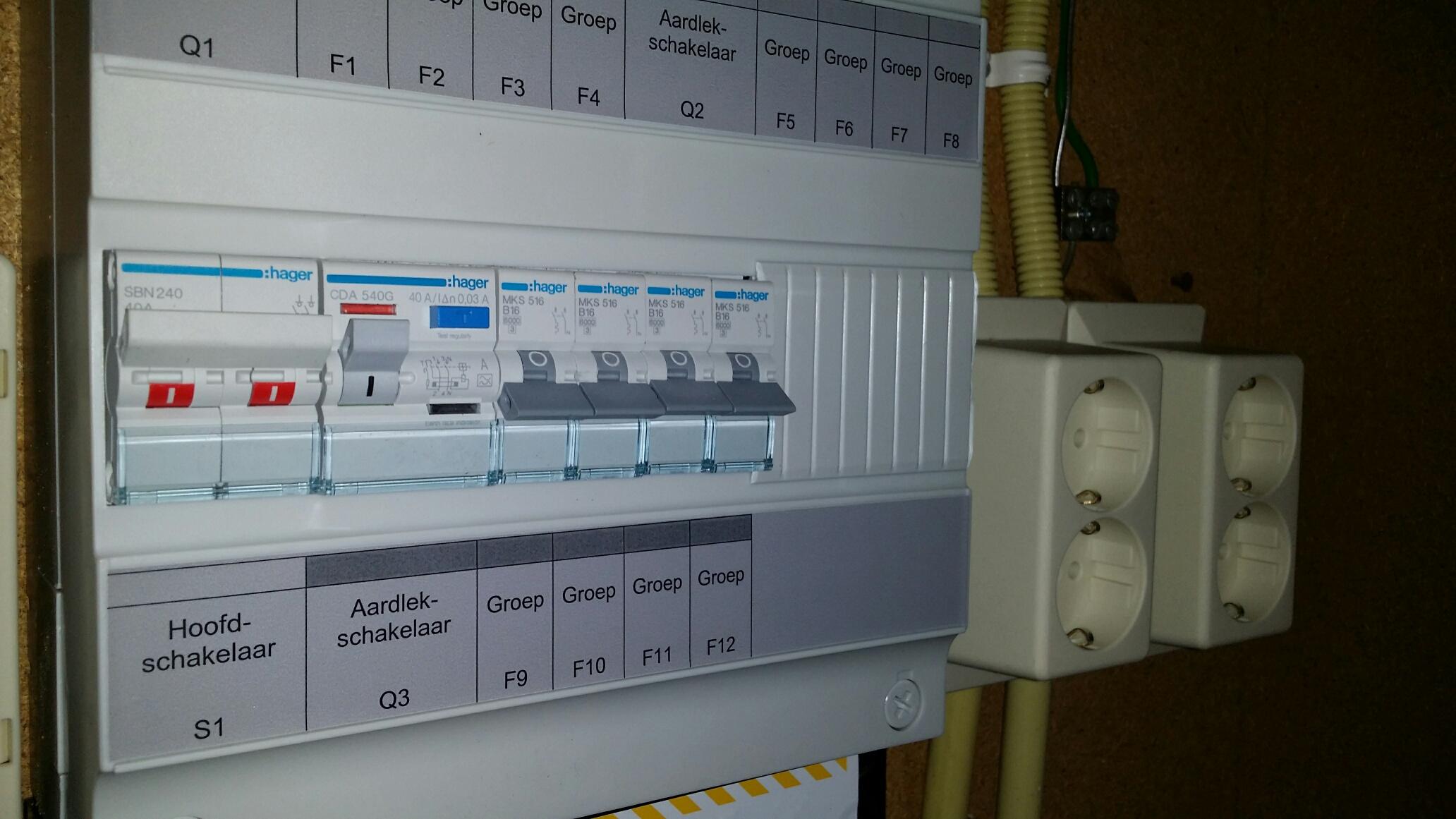 Hedendaags Meterkast stoppenkast vervangen? Regio Roermond Weert Venlo Sittard WS-97